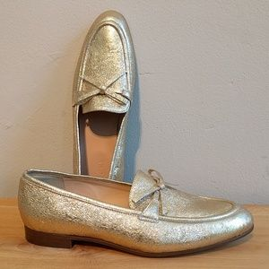 J. Crew Metallic Leather Loafers